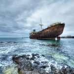 barco abandonado Telamon Lanzarote