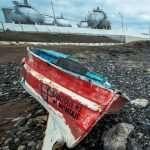barco abandonado Telamon
