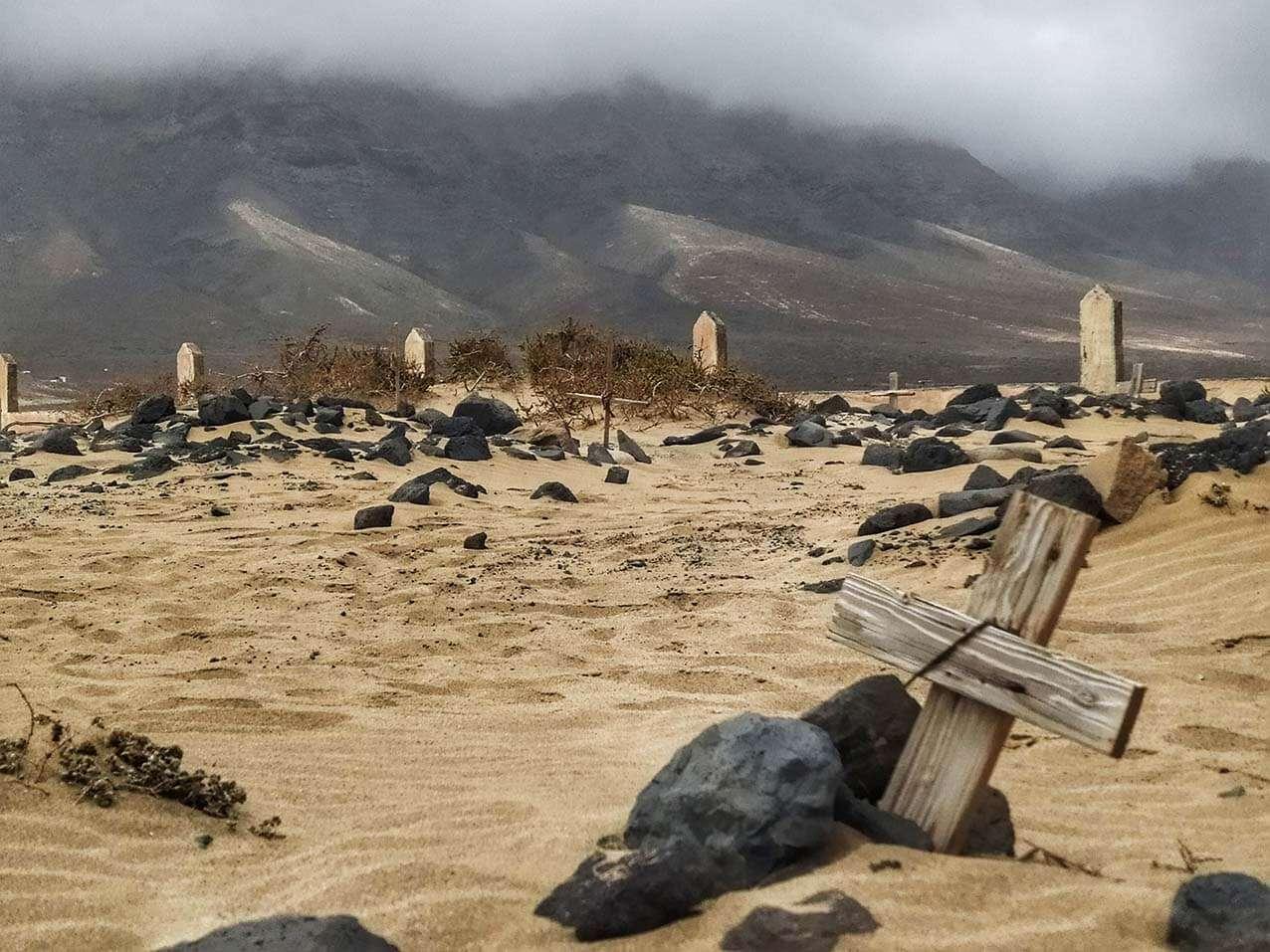 La playa de Cofete, bajo Villa Winter, Fuerteventura