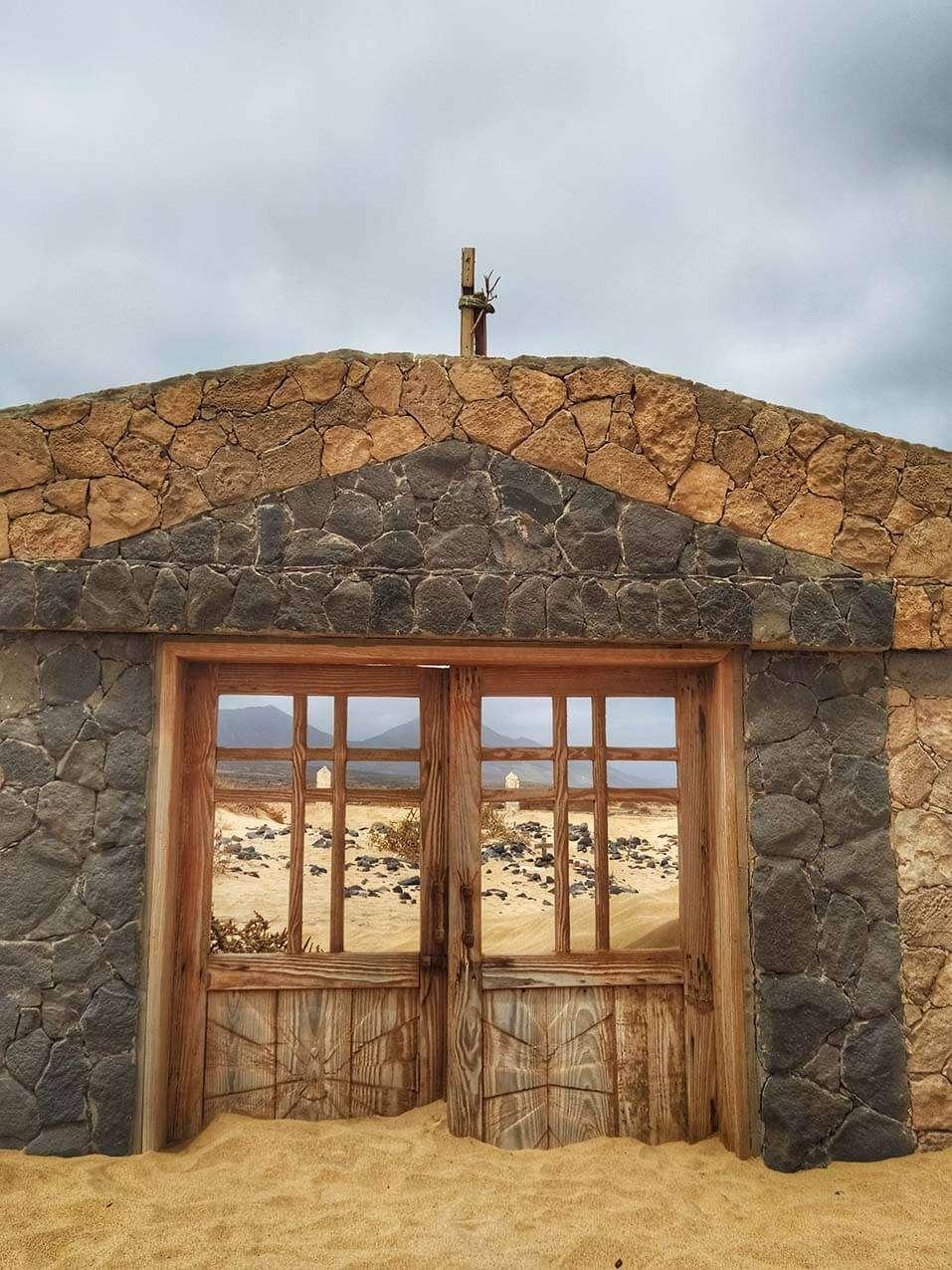 Otro portón de Villa Winter, Fuerteventura